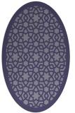 rug #912017 | oval blue-violet borders rug