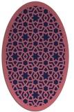 rug #912021 | oval pink borders rug