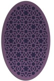 rug #912025 | oval purple rug