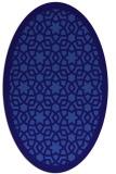 rug #912029 | oval blue-violet borders rug