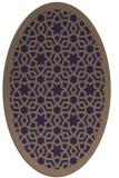 rug #912033   oval beige borders rug