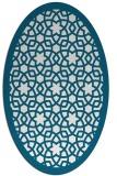 rug #912048 | oval borders rug