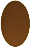rug #912069 | oval mid-brown borders rug
