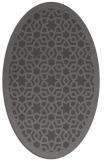 rug #912073   oval mid-brown borders rug