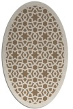 rug #912077   oval mid-brown borders rug