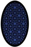 rug #912097 | oval black geometry rug