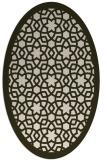 rug #912105 | oval borders rug