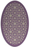 rug #912109 | oval beige geometry rug
