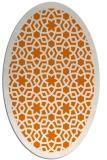 rug #912129 | oval orange borders rug
