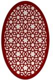 rug #912132 | oval borders rug