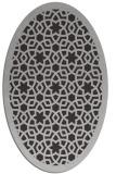 rug #912137 | oval orange borders rug