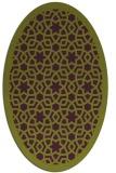 rug #912161 | oval purple borders rug