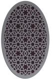 rug #912169 | oval purple borders rug