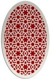 rug #912173 | oval red borders rug