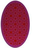 rug #912185 | oval red borders rug