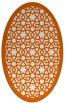 rug #912201 | oval red-orange rug