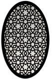 rug #912205 | oval white borders rug