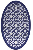 rug #912213 | oval blue borders rug