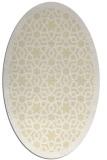 rug #912233 | oval white borders rug