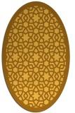 rug #912245 | oval light-orange borders rug