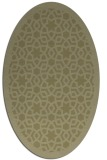rug #912257 | oval light-green borders rug