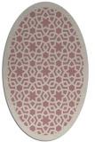 rug #912273 | oval pink geometry rug
