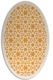 rug #912281 | oval light-orange borders rug