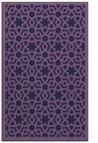 rug #912385 |  blue-violet geometry rug