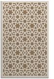 rug #912437    mid-brown borders rug
