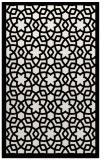 rug #912565 |  black borders rug