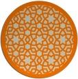 rug #912645   round orange borders rug