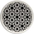 rug #912649 | round black borders rug