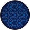 rug #912677 | round blue geometry rug