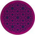 rug #912681 | round blue borders rug