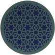 rug #912685 | round blue-green borders rug