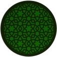 rug #912705 | round green popular rug