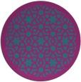rug #912729 | round pink borders rug