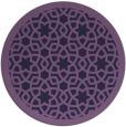 rug #912745 | round purple rug