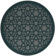 rug #912777 | round blue-green borders rug