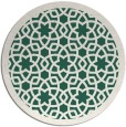 rug #912781 | round blue-green borders rug