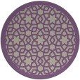 rug #912829   round purple rug