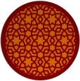 rug #912845 | round orange geometry rug