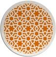 rug #912849 | round orange borders rug
