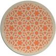 rug #912853   round orange borders rug