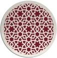 rug #912865 | round pink rug