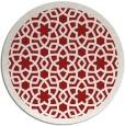 rug #912901 | round red borders rug