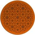 rug #912917 | round red-orange borders rug