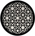 rug #912925 | round white borders rug