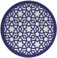 rug #912933   round blue borders rug
