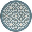 rug #912941 | round blue-green borders rug